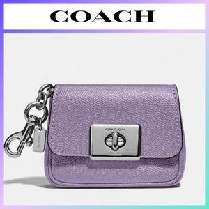 COACH Mini Cassidy Coin Case Bag Charm